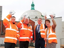 (Pictured from) left to right are Chris Price, Contracts Manager for Robertson Construction North East, Martin Westgate, Director for Robertson Construction England, Patrick Melia, Chief Executive, North Tyneside Council, and Norma Redfearn, Elected Mayor of North Tyneside.