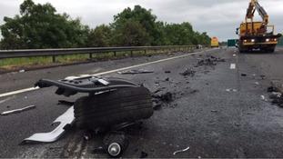 M5 crash: Third man dies following motorway pile-up