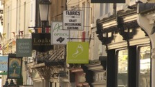 The independent shops of Bath give it character