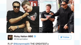 Ricky Hatton has joined the chorus of tributes to 'The Greatest'.