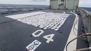 The Royal Navy seized more than a tonne of heroin