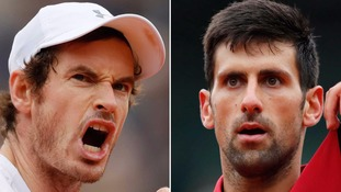 Andy Murray faces Novak Djokovic in battle for French Open title