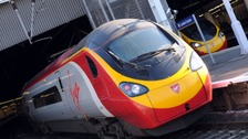 A Virgin Pendolino which operates on the West Coast Main Line.