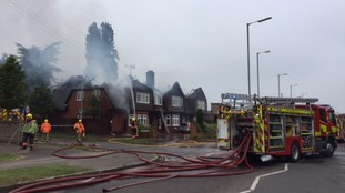 Cambridge and Suffolk fire services are dealing with the fire.