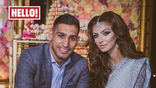 Amir Khan and his wife Faryal Makhdoom Khan with daughter Lamaisah's