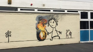 New Banksy artwork spotted on Bristol primary school