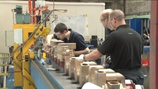 Figures suggest manufacturing has declined in Cumbria and the Scottish Borders.