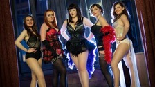 Olivia Cork, 19, and Michelle Ross, 31, have been learning the art of burlesque