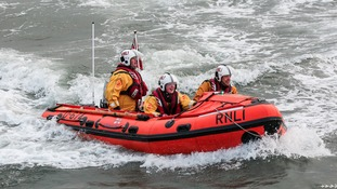 Stock image of Whitby RNLI inshore-lifeboat