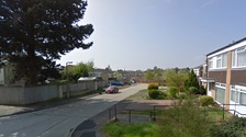 General view of Denham Close in Wivenhoe where a man's was found dead inside a property.