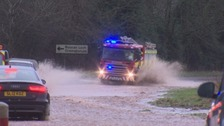 Flooding in Dumfries and Galloway.