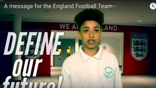 Children have inspiring message for the England squad