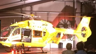 Yorkshire air ambulance unveils new helicopter