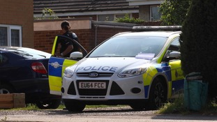 Police at the scene in Denham Close in Wivenhoe.
