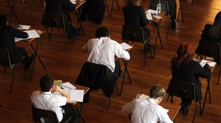 Students take exams