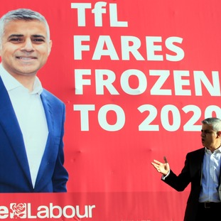 London mayor Sadiq Khan has said fares will be frozen for four years