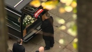 The coffin of murdered police officer PC Nicola Hughes.