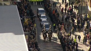 top shot of cortege