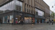 Primark in central Newcastle, where the toddler was abducted.