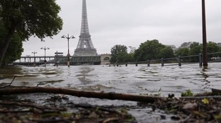 The Seine river reached its highest level since 1982 on Friday night
