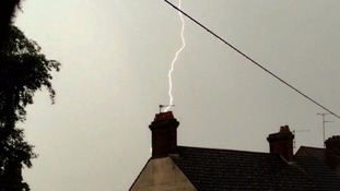 Lightning at Flitwick in Bedfordshire