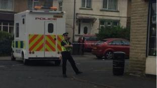 The police scene in Round Street