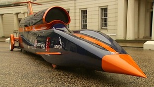 The full scale model of Bloodhound SSC inside a hardened shelter at RAF St Mawgan, Newquay
