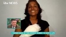 Leslie Binns was thanked by Sunita Hazra on ITV's This Morning