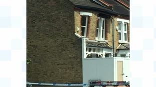 Terraced house collapses in south London