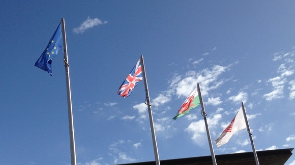 Senedd flags