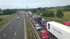 There has been a serious accident on the M6.