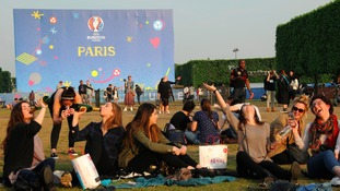 Fanzones have been set up in France, and back home fans are being urged to be responsible.