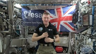 Tim Peake speaks from the ISS