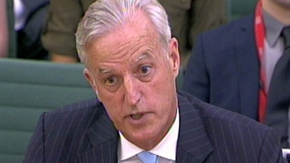 FirstGroup CEO Tim O&#x27;Toole giving evidence to the House of Commons last month