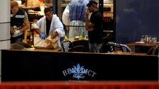 Israeli police examine the scene