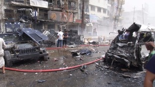 The bombing in Baghdad was in a predominantly Shiite area.