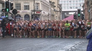Runners at the 2015 Blaydon Races
