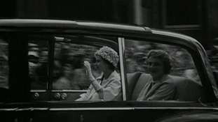 The Queen arrives in Ipswich.