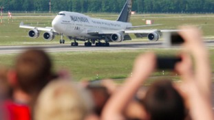 Iron Maiden's plane