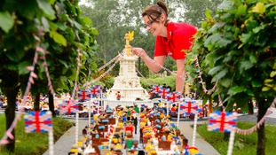 650 hours and 30,000 bricks - a miniature Lego street party for the Queen's birthday