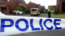 The scene on Manor Farm Close