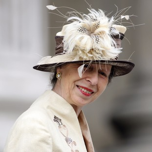 The Princess Royal arrives at St Paul's Cathedral