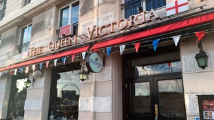 The Queen Victoria pub where police dispersed England football fans after an apparent clash with locals in the Old Port area of Marseille