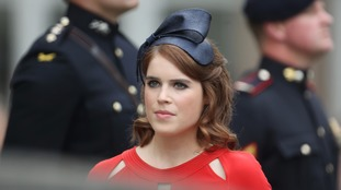 Princess Eugenie arrives at the service