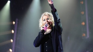 British Pop singer Kim Wilde performs on stage in 2012