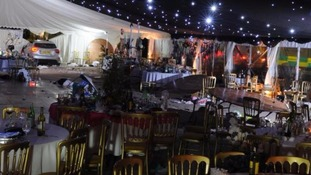 Businessman jailed after ploughing into black tie marquee injuring 21