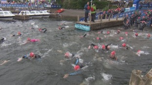 Swimmers dive into The Great North Swim