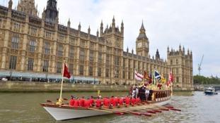 Gloriana will lead the 50-strong flotilla