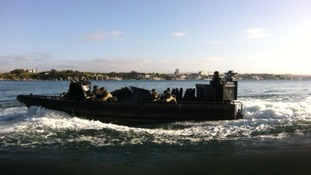 Marine Commandos taking part in Exercise Cougar