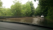 Flooding on the M6